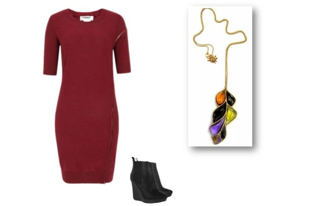 Fall trends, burgundy, laef pendant, Anna Ruth Henriques