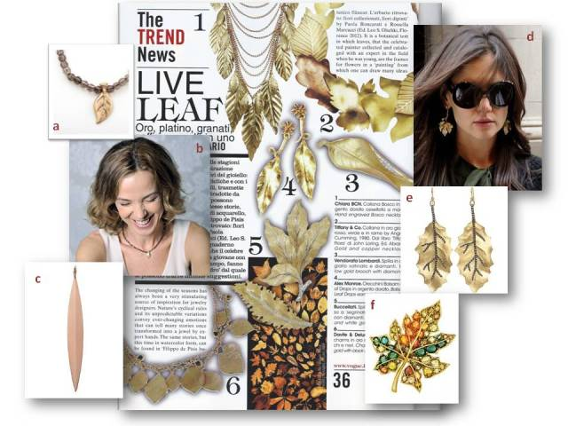 A walk in the park, leaf jewelry, Silvia Taveira